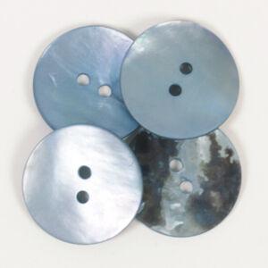 Drops Gyöngyház gomb, kék