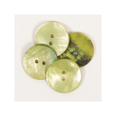 Drops Gyöngyház gomb, zöld