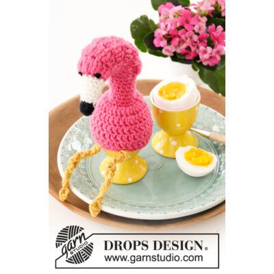 horgolt flamingó tojásmelegítő
