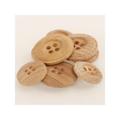 Drops világos fa gomb 25mm